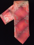 Red Paisley Patterned Tie