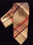 Gold, Red, & Brown Stripe Tie