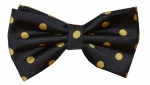 Black & Gold Polka Dot BowTie-Out of Stock