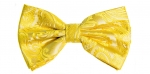 Gold Paisley Textured Bow Tie