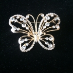 Butterfly Brooch with Crystal body