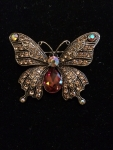 Butterfly Brooch with Topaz body
