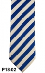 Royal Blue & White Wide Striped Necktie