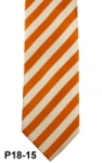 Orange & White Wide Striped Necktie