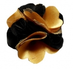 BLACK AND GOLD FLOWER LAPEL PIN