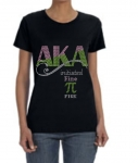 Initiated at FINE PI BLACK Chapter Bling T-Shirt (Sizes 2x-large-3x-large)