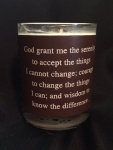 Leather Wrap Inspirational Quote Engraved Soy Candle