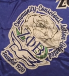 Zeta Phi Beta Sorority Silk Scarf