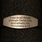 Scripture Bracelet with Plate - Philippians 4:13