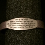 Scripture Bracelet with Plate - Proverbs 3:5-6