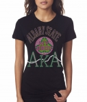 ALBANY STATE/AKA- MY HBCU BLACK Chapter Bling T-Shirt (Sizes small - x-large)