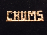 CHUMS Swarovski Crystal Lapel Pin