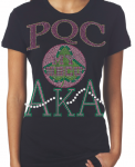 PAUL QUINN COLLEGE/AKA- MY HBCU BLACK Chapter Bling T-Shirt (Sizes 2x-large-3x-large)
