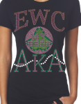 EDWARD WATERS COLLEGE/AKA- MY HBCU BLACK Chapter Bling T-Shirt (Sizes 2x-large-3x-large)