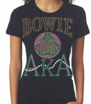 BOWIE STATE U/AKA- MY HBCU BLACK Chapter Bling T-Shirt (Sizes 2x-large-3x-large)