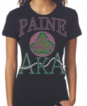 PAINE COLLEGE/AKA- MY HBCU BLACK Chapter Bling T-Shirt (Sizes small-x-large)