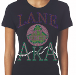 LANE COLLEGE/AKA- MY HBCU BLACK Chapter Bling T-Shirt (Sizes 2x-large-3x-large)