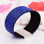 Blue Clear Crystal Bracelet with magnetic closure