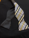 Black and Gold Plaid Self-Tie Bow Tie-Out of stock