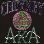 CHEYNEY STATE/AKA- MY HBCU BLACK Chapter Bling T-Shirt (Sizes small-x-large)