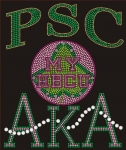 PHILANDER SMITH COLLEGE/AKA- MY HBCU BLACK Chapter Bling T-Shirt (Sizes small-x-large)