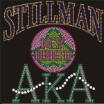 STILLMAN COLLEGE/AKA- MY HBCU BLACK Chapter Bling T-Shirt (Sizes small-x-large)