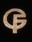 Girl Friends CLEAR Crystal Large BLING Lapel Pin