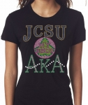 JOHNSON C SMITH STATE/AKA- MY HBCU BLACK Chapter Bling T-Shirt (Sizes 2x-large-3x-large)
