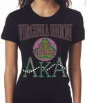 VIRGINIA UNION UNIVERSITY/AKA- MY HBCU BLACK Chapter Bling T-Shirt (Sizes 2x- 3x large)