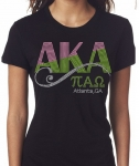 PI ALPHA OMEGA Chapter Bling T-Shirt (Sizes small to x large)