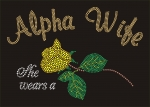 "Alpha Wife ""Yellow Rose"" T shirt (Sizes 2x-3x large)"