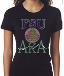 FAYETTEVILLE STATE/AKA- MY HBCU BLACK Chapter Bling T-Shirt (Sizes small - x-large)