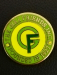Girl Friends round METAL Lapel Pin