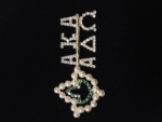 AKA 20 Pearls Ivy Leaf  ALPHA DELTA OMEGA Chapter Pin
