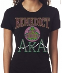 BENEDICT COLLEGE/AKA-My School of Higher Ed. - Black Bling T-shirt (sizes small - x-large)