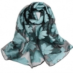 Black and Light Blue SHEER ORGANZA  Scarf
