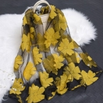 Black and Gold SHEER ORGANZA  Scarf-Limited Quantity