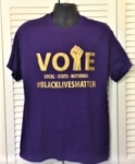 Purple and Gold VOTE- T-Shirt (Medium to X-large)