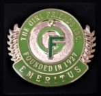 The GIRL FRIENDS, Inc. Metal and Crystal EMERITUS pin