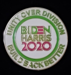 Pink and Green  VOTE  BIDEN HARRIS PIN