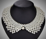 Medium Pearl Collar Necklace with pearl dangle-Only a few left!