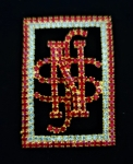 Red and Clear Elegant Swarovski Crystal NSS lapel pin