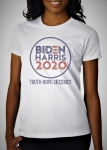 BIDEN-HARRIS CRYSTAL Blue and Red Truth Hope Decency - T-Shirt (2- 3X large)
