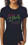 ALPHA  DELTA OMEGA Chapter Bling T-Shirt (Sizes small to x-large)