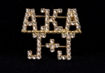 AKA/J&J Crystal Lapel Pin