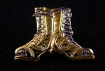 OMEGA PSI PHI STEPPIN' BOOTS PIN