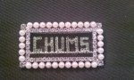 CHUMS Crystal and Pearl Rectangular Pin