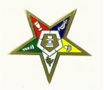 OES Star Lapel Pin