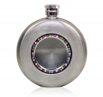 Round Crystal flask,4.5 oz.