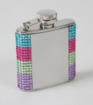 Bejeweled crystal flask